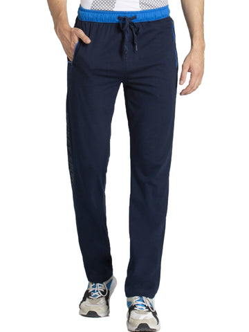 Jockey Men's Navy & Neon Blue Sports Track Pant Slim Fit-9510