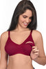 Juliet Women's Mold Feed Hoisery Non Padded Feeding Bra-Maroon