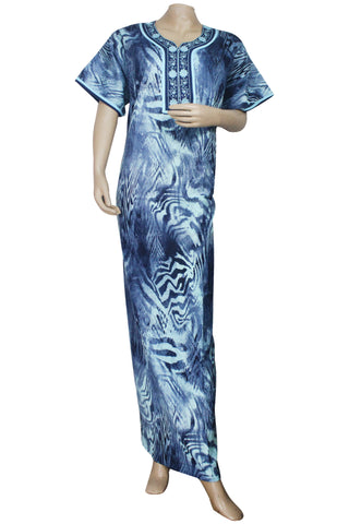 Juliet SCA503463 Women's Hosiery Printed Nighty-Blue Print