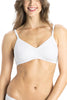 Jockey 1722 Shaper Women's Seamless Cotton Medium Coverage T-Shirt Bra-White