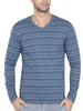 Jockey Men's V-Neck Seaport Teal Long Sleeve T-Shirt-AM53