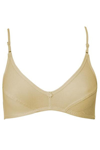 Juliet Sonata Women's Hoisery Non Padded Salwar Bra [Pack Of 2]-Skin