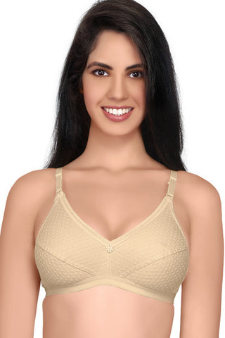 Juliet Women's Damini Non Padded Low Cut Saree Bra-Skin