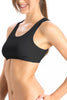 Jockey 1582 Women's Seamless cotton Non Padded Teenage Sports Bra-Black