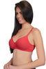 Juilet Semi Padded Full Coverage T-Shirt Bra # 1059-Tomato