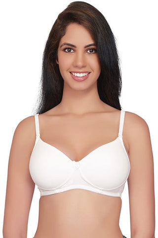 Juilet Semi Padded Full Coverage T-Shirt Bra # 1059-White