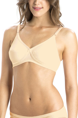 Jockey 1242 X-Cite Women's Cotton Full Figure Saree Bra-Skin