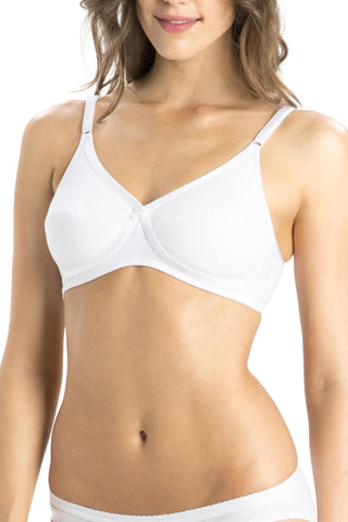 Jockey 1242 X-Cite Women's Cotton Full Figure Saree Bra-White