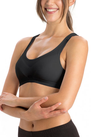 Jockey 1378 Women's Cotton Non Padded Full Figure Sports Bra-Black