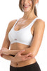 Jockey 1378 Women's Cotton Non Padded Full Figure Sports Bra-White