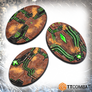 90mm Tomb World Oval Bases