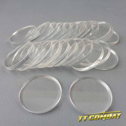 Round Clear Bases (25mm)