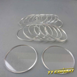 Round Clear Bases (40mm)