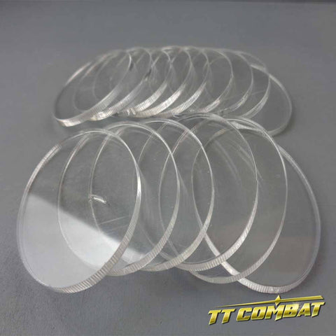 Oval Clear Cavalry Bases (35 x 60mm)