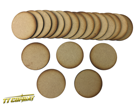20 x 50mm Round Bases