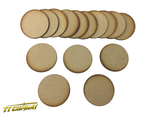 15 x 60mm Round Bases