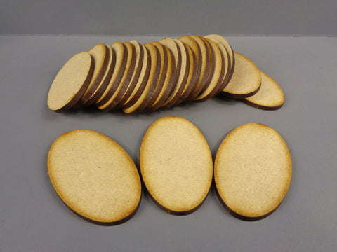 60mm x 35mm Oval Bases (25)