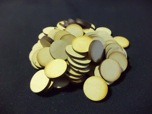 80 x 25mm Round Bases