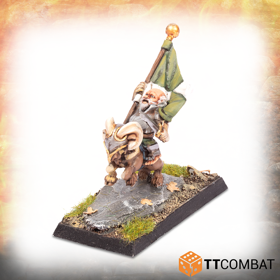 Halfling Goat Rider Battle Standard Bearer *PRE-ORDER 14TH AUGUST*