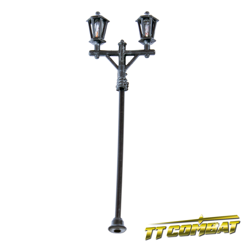 Plastic 1:100 Old Town Double Head Lamp Posts (6)