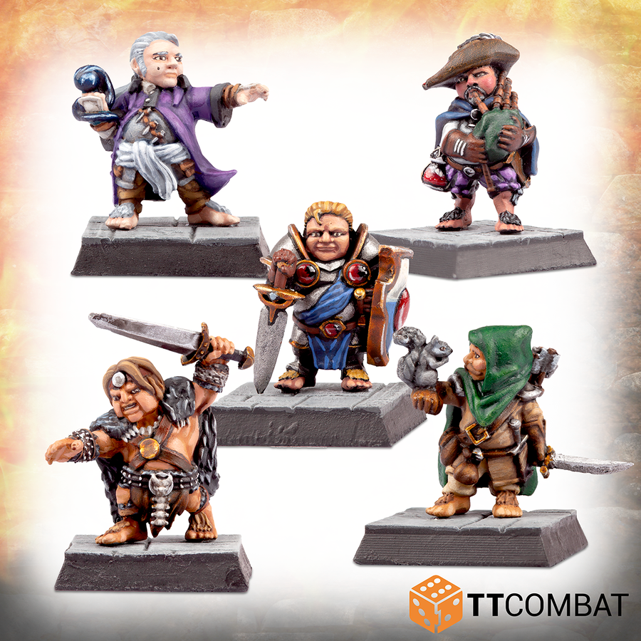 Traditional Halfling Adventurers