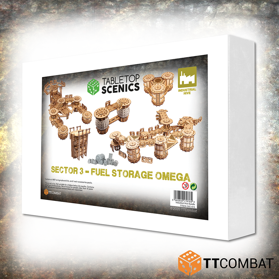 Sector 3 Fuel Storage Omega White Box Bundle