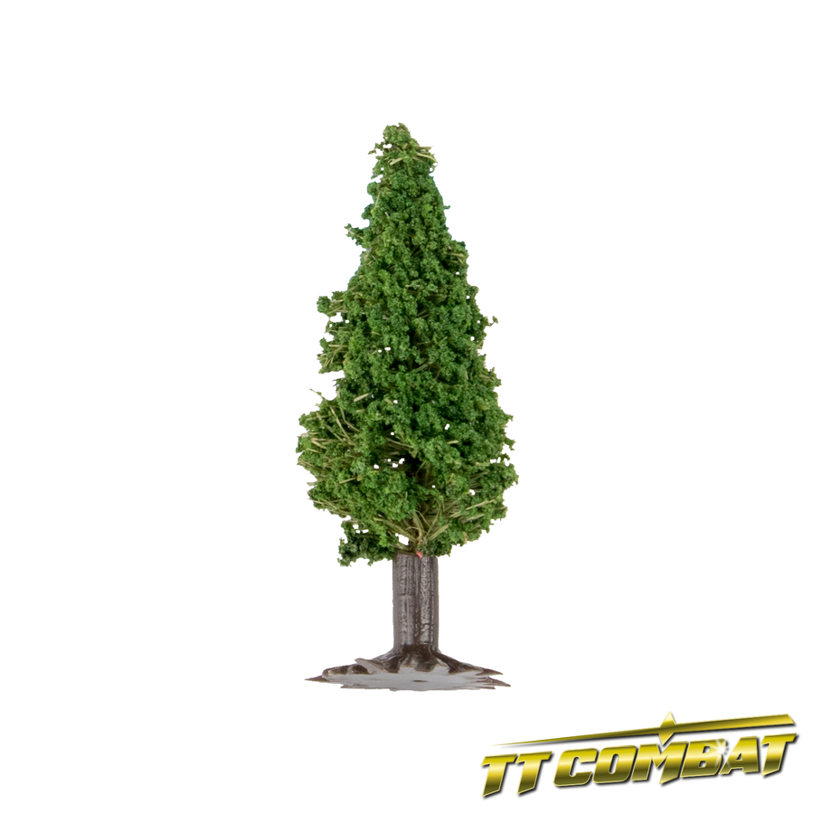 Dark Evergreen Spruce Tree Flax 5cm (8)