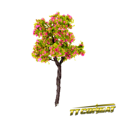 Pink Flowering Chestnut Tree Iron Wire 10cm (5)