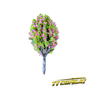 Pink Flowering Poplar Tree Plastic 4cm (10)