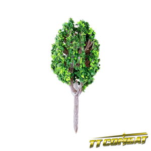 Summer Green Poplar Tree Plastic 4cm (10)