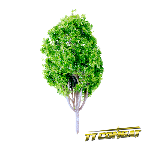 Summer Green Poplar Tree Plastic 8cm (5)