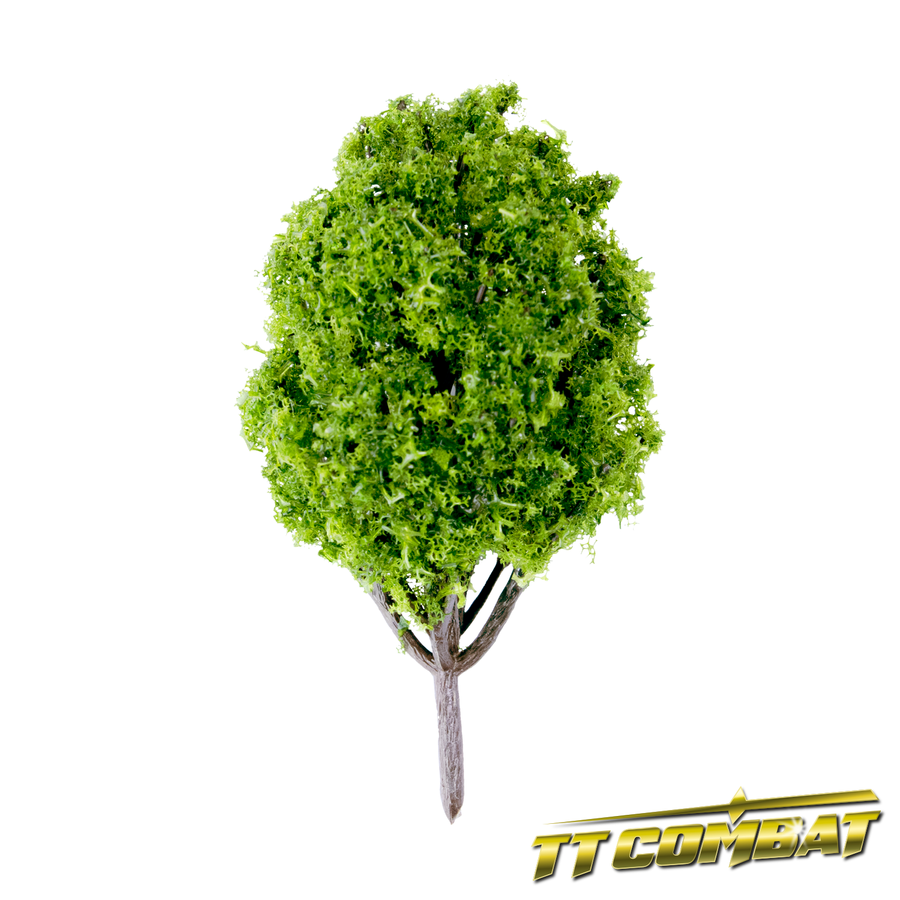 Summer Green Poplar Tree Plastic 10cm (5)