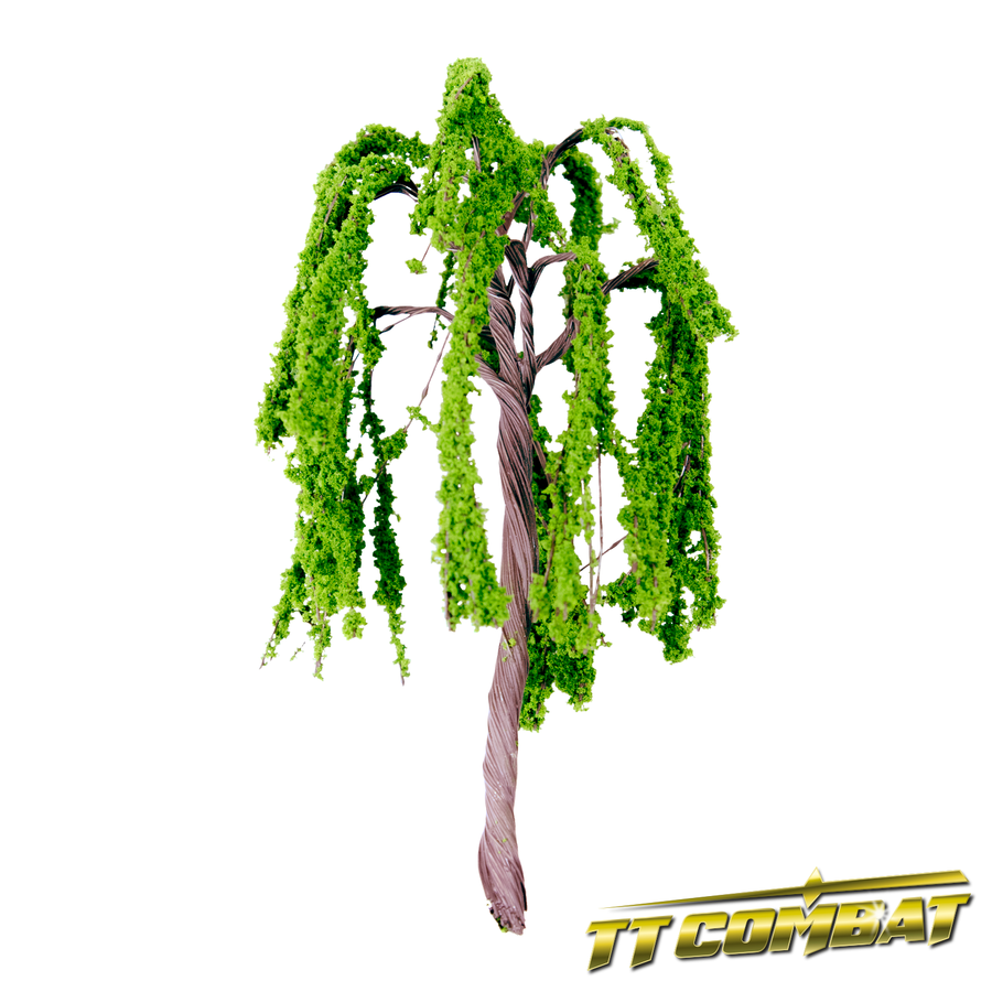 Summer Green Weeping Willow Iron Wire 12cm (4)