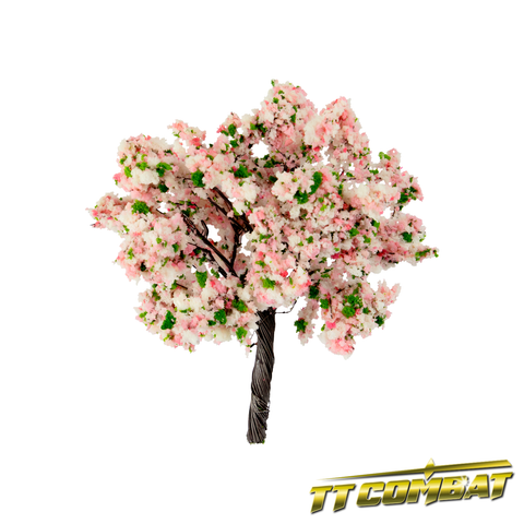 Pink White Blossom Flowering Tree Iron Wire 12cm (2)