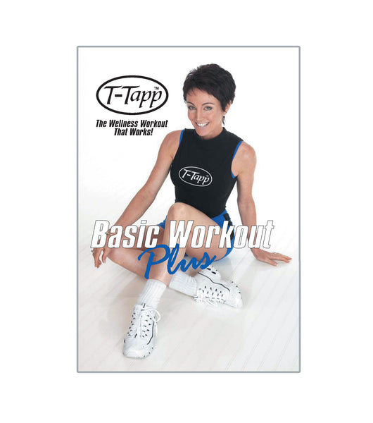 Great as a warm up or as a stand alone workout, Basic Workout Plus delivers inch loss as well as improved health/wellness. Basic Workout Plus is the first half of the Total Workout plus the exercise Hoe Downs, which is the 3-minute sugar blasting move that drops glucose points. Basic Workout Plus proves that less is more with T-Tapp.
