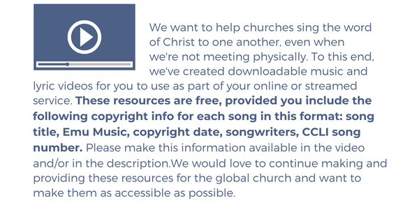 Downloadable Lyric Videos for Online Church