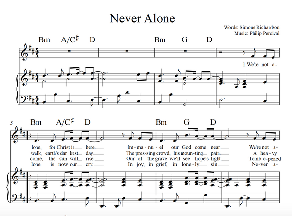 Never Alone (Sheet Music)