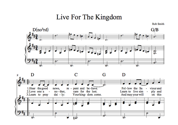 Live For The Kingdom (Sheet Music)