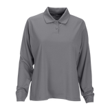 C1831W Ladies Long Sleeve Omega Solid Mesh Tech Polo
