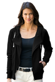 C1824W Ladies Fleece Moto Jacket