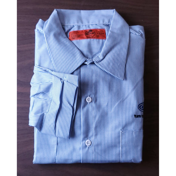 _C1321MLS Mens Striped Industrial Long Sleeve Work Shirt*
