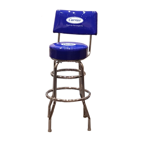 C1340 Vinyl Stool with Backrest
