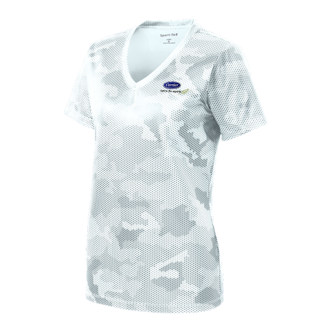 C1515W Ladies CamoHex V-Neck Tee