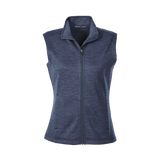 CC1702W Ladies Newbury Melange Fleece Vest