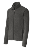 C1731M Mens Heather Microfleece Jacket