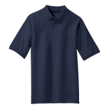 C1308MPT Mens Tall Silk Touch Short Sleeve Pocket Polo