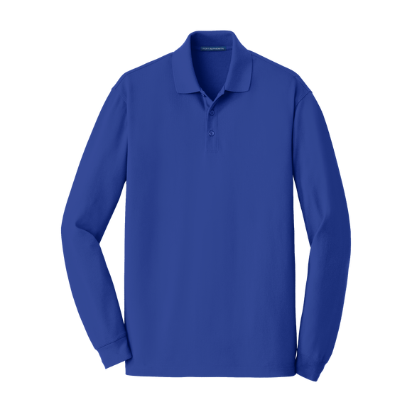 C2112 Mens Long Sleeve EZ Cotton Polo