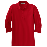 C1963 Ladies Silk Touch 3/4 Sleeve Polo
