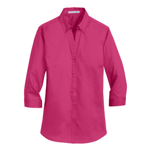 C1739 Ladies SuperPro 3/4 Sleeve Twill Shirt