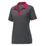 C1810W Ladies Heather Contender Contrast Polo